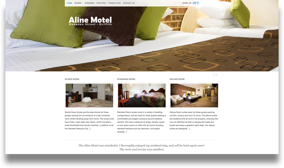 Motel Website Design (Online Tourism)