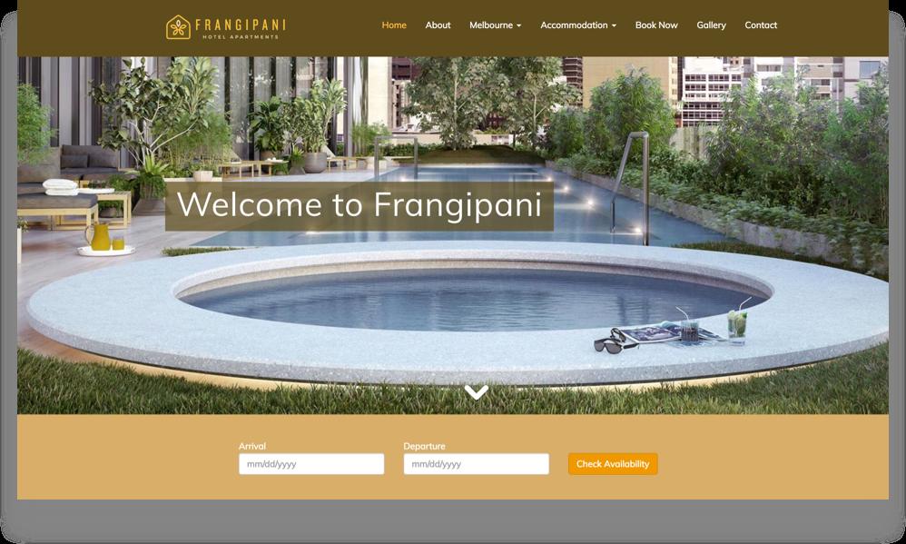 Apartment Website Design (Online Tourism)