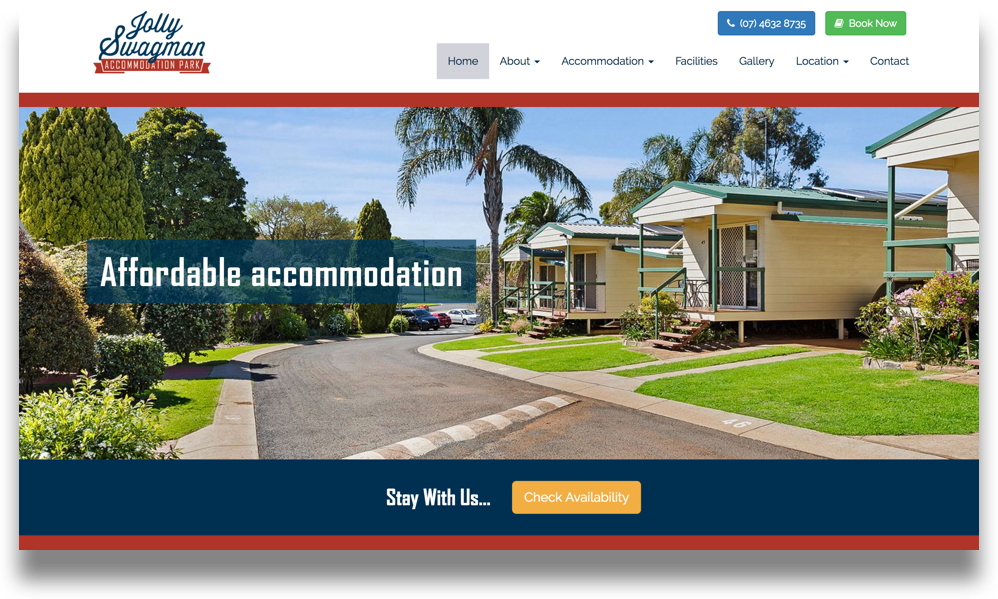 Accommodation Park Website Design (Online Tourism)