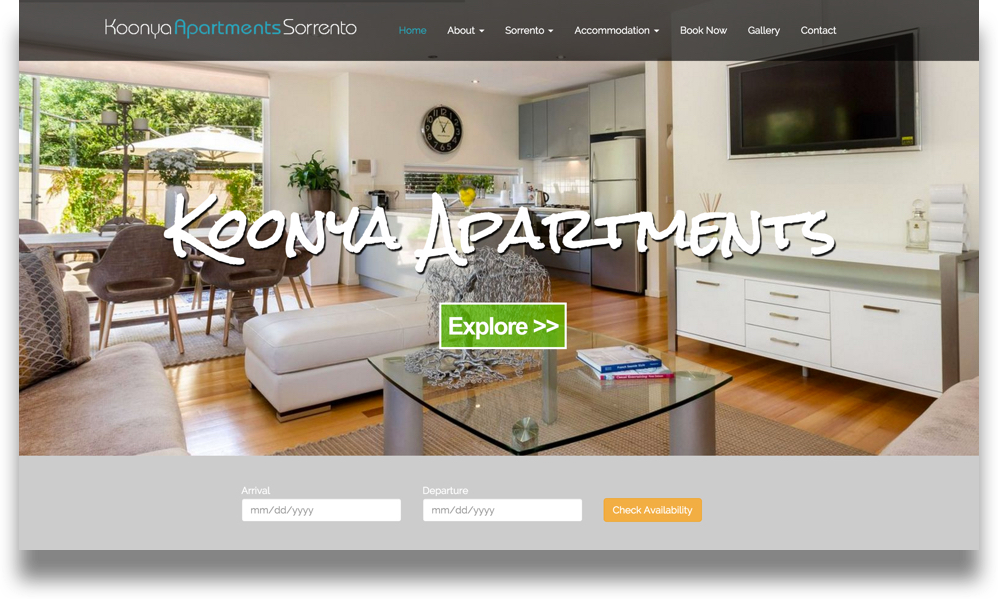 Apartment Website Design (Online Tourism)