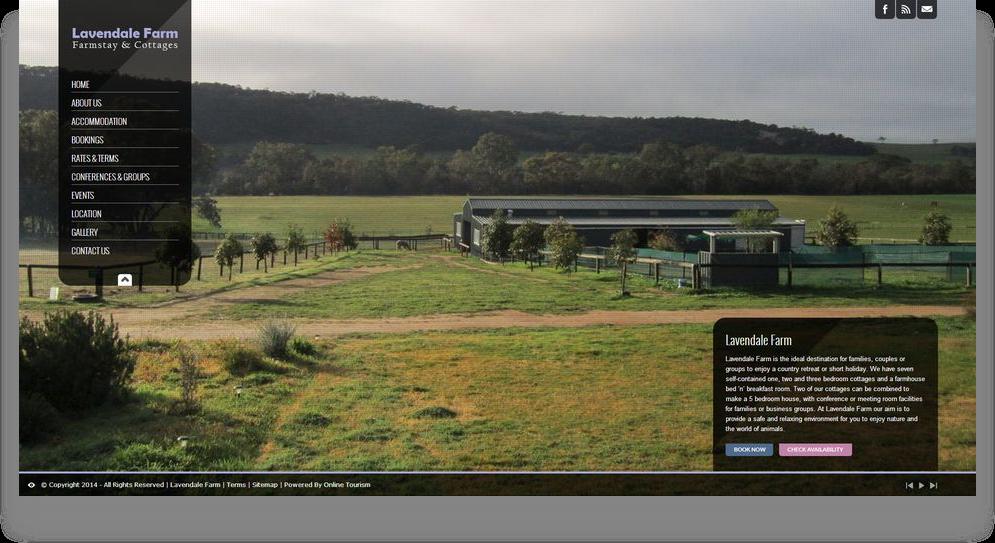 Farmstay Website Design (Online Tourism)