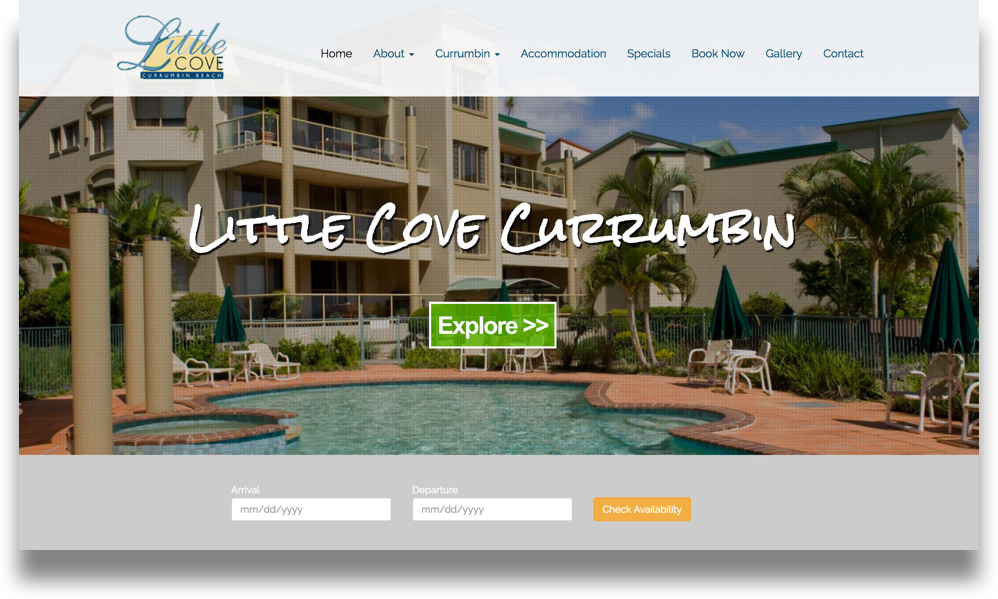 Holiday Accommodation Website Design (Online Tourism)