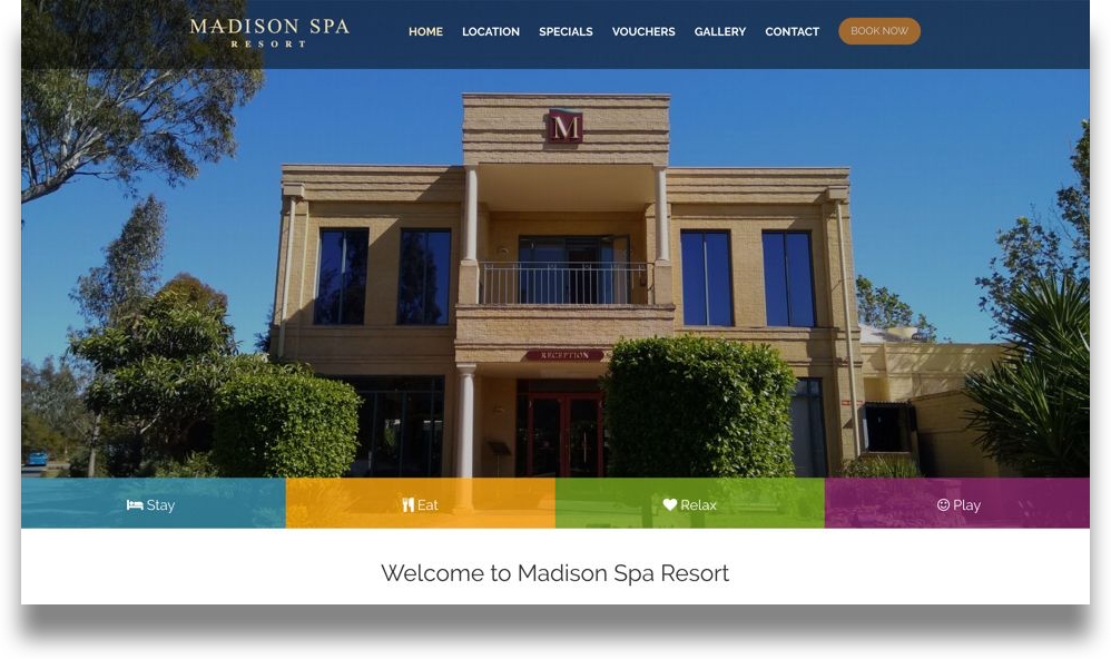 Resort Accommodation Website Design (Online Tourism)