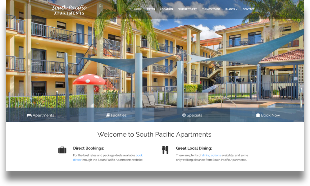 Apartment Web Design (Online Tourism)