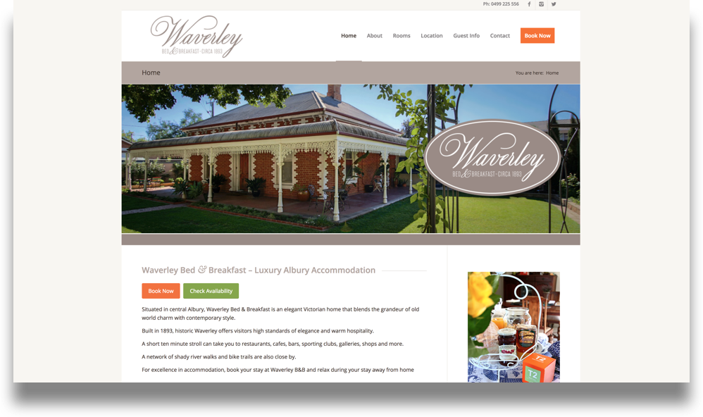 Bed & Breakfast Website Design (Online Tourism)