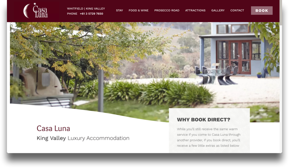 Accommodation Web Design (Online Tourism)